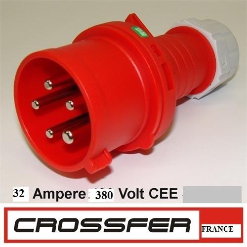 Prises de rallonge kit male femelle 380v 32 amperes for Prise 32 amperes cuisine
